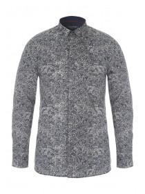 Mens Brisley and Green Paisley Shirt