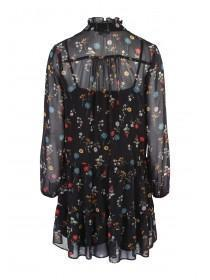 Womens Black Chiffon Tunic