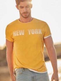 Mens Yellow New York