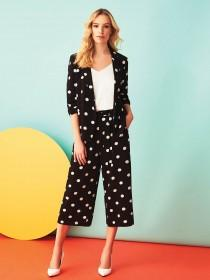 Womens Black Spot Blazer