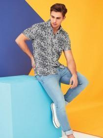 Mens Blue Tile Shirt