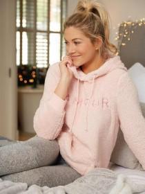 Womens Pink Amour Lounge Pyjamas