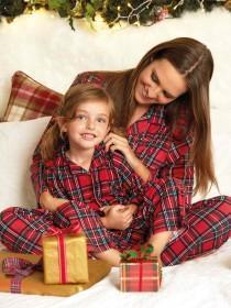 Womens Red Tartan Pyjama Set