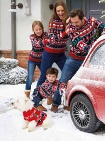 Younger Kids Red Fairisle Christmas Jumper