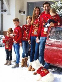 Womens Red Reindeer Christmas Jumper