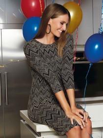 Womens Black Glitter Shift Dress