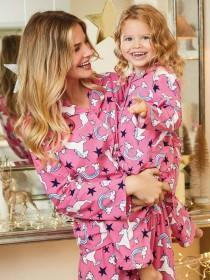 Girls Pink Unicorn Pyjama Set