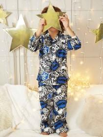 Boys Grey Comic Pyjama Set