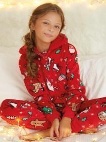 Girls Red Christmas Onesie