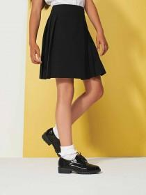Older Girls Black Back To School Brogues