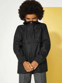 Older Boys Black Rubber Rain Coat