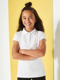 Girls 2pk White Polo Shirts