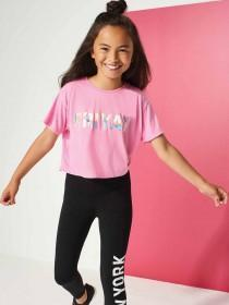 Older Girls Pink Friyay Slogan T-Shirt