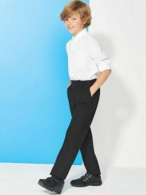 Boys Black Back To School Trousers