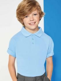 Boys 2pk Blue Polo Shirts