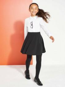 Older Girls Black Back To School Skater Skirt
