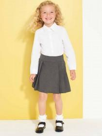 Girls Grey Pleated School Skirt