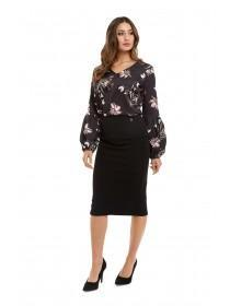 Jane Norman Black Pencil Skirt