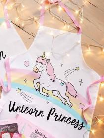Kids Novelty White Unicorn Apron
