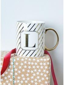 Gold L Initial Mug
