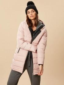 Womens Pink 2 in 1 Padded Coat