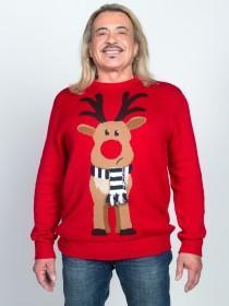 Mens Red Reindeer Jumper