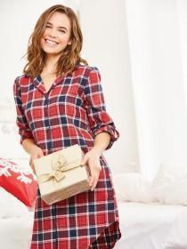 Womens Boyfriend Style Check Nightshirt