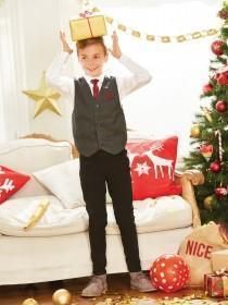 Older Boys 3 Piece Grey Waistcoat and Shirt Set