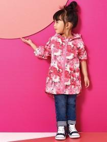 Younger Girls Pink Unicorn Rain Coat