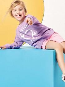 Younger Girls Lilac Unicorn Slogan Sweater