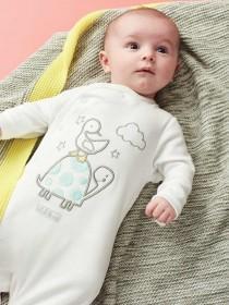 Unisex Baby 2pk White Sleepsuits