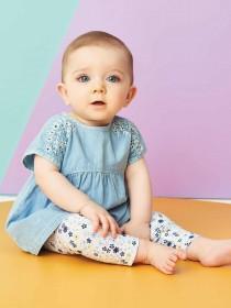Baby Girls Blue Dress Set