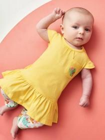 Baby Girls Yellow Top and Legging Set