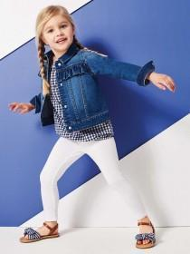 Younger Girls Blue Denim Frill Jacket
