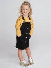Younger Girls Mustard Cat Sweater