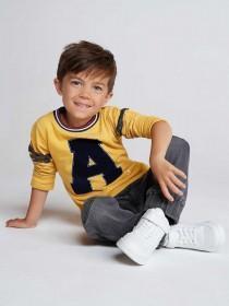 Younger Boys Yellow Awesome Sweatshirt