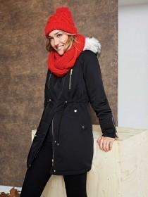 Womens Black Parka Coat