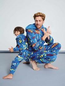Boys Blue Comic Onesie