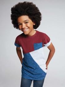 Older Boys Burgundy Asymmetric T-Shirt
