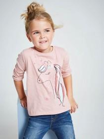 Younger Girls Pink Unicorn T-Shirt
