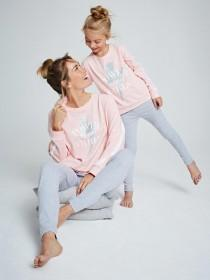 Older Girls Pink Power Slogan Pyjama Set