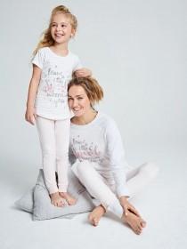 Younger Girls Grey Sparkle Pyjama Set