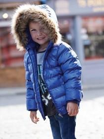 Younger Boys Fur Trim Bomber Jacket