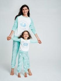 Girls Aqua Mermaid Slogan Pyjama Set