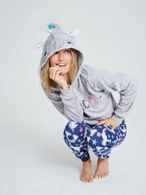 Womens Unicorn Hooded Lounge Set
