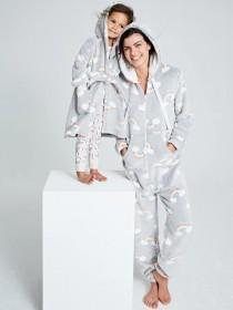 Womens Grey Rainbow Onesie