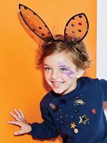 Girls Black Bunny Ears Hairband