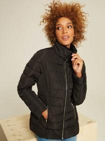 Womens Black Short Padded Coat