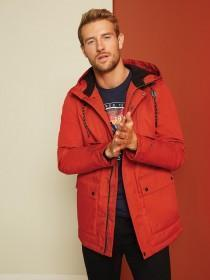 Mens Orange Parka Coat