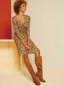 Womens Tan High Leg Slouch Boots
